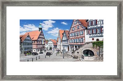 Town Hall At Market Square, Backnang Framed Print by Panoramic Images