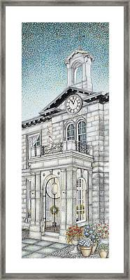 Town Hall Clock Kirkby Lonsdale Cumbria Framed Print by Sandra Moore