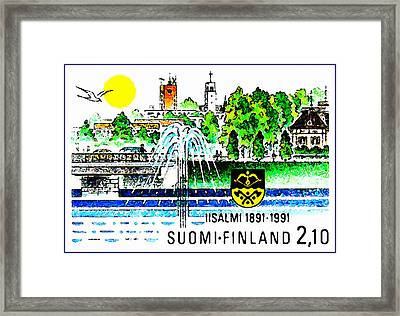 Town Of IIsalmi Framed Print by Lanjee Chee