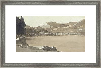Town Of Lugano, Switzerland, 1781  Framed Print by Francis Towne