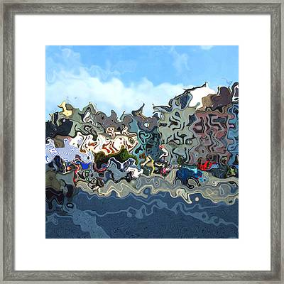 Town Framed Print by Viktor Lebeda