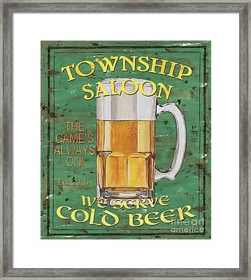 Township Saloon Framed Print by Debbie DeWitt