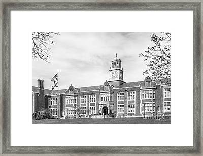 Towson University Stephens Hall Framed Print by University Icons