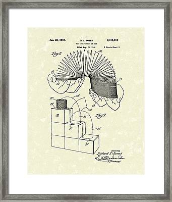 Toy 1947 Patent Art Framed Print by Prior Art Design