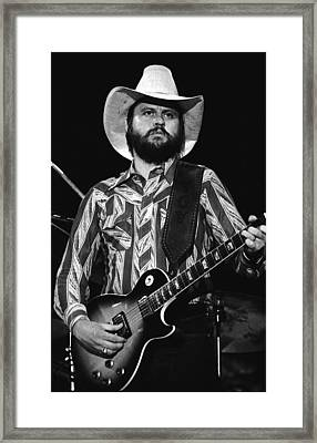 Toy Caldwell Live Framed Print by Ben Upham