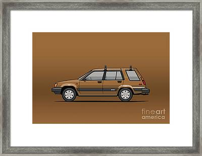 Toyota Tercel Sr5 4wd Wagon Al25 Bronze Framed Print by Monkey Crisis On Mars