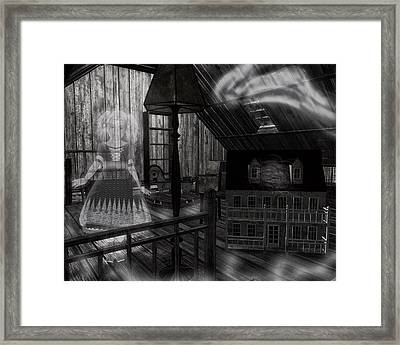 Toys In The Attic Haunted Framed Print by Sharon and Renee Lozen