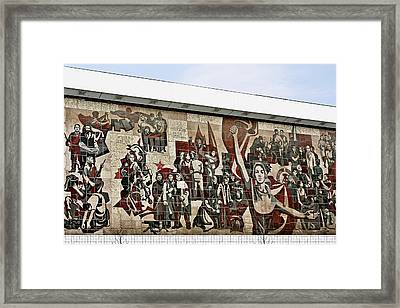 Traces Of Socialist Idealism In Dresden Framed Print by Christine Till