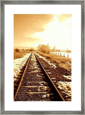 Tracks Framed Print by Caroline Clark