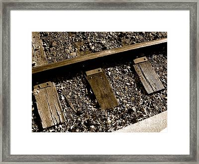 Tracks Framed Print by Sergio Geraldes