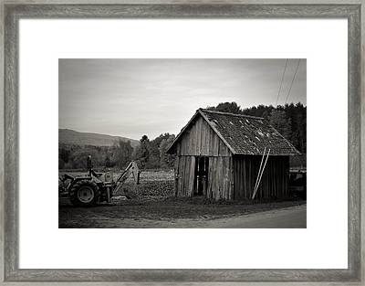 Tractor And Shed Framed Print by Mandy Wiltse