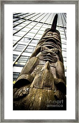 Tradition And Contemporary Totems Framed Print by James Aiken