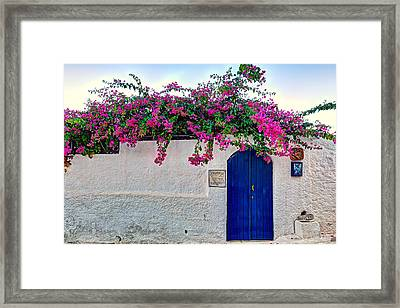 Traditional House At Metochi In Agistri Island - Greece Framed Print by Constantinos Iliopoulos