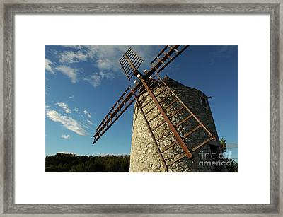 Traditional Stone Windmill In Les Pennes-mirabeau Framed Print by Sami Sarkis