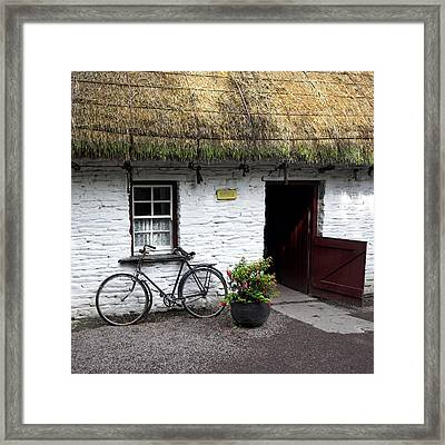 Traditional Thatch Roof Cottage Ireland Framed Print by Pierre Leclerc Photography