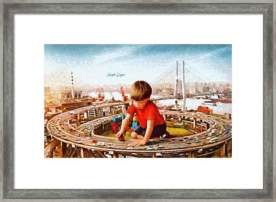 Traffic Engineer - Da Framed Print by Leonardo Digenio
