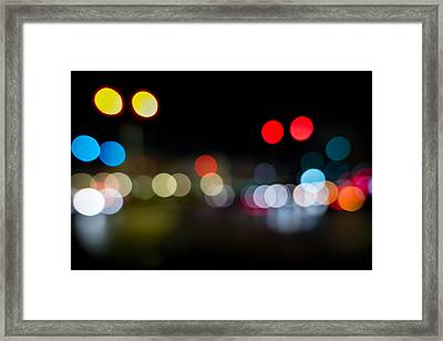 Traffic Lights Number 14 Framed Print by Steve Gadomski