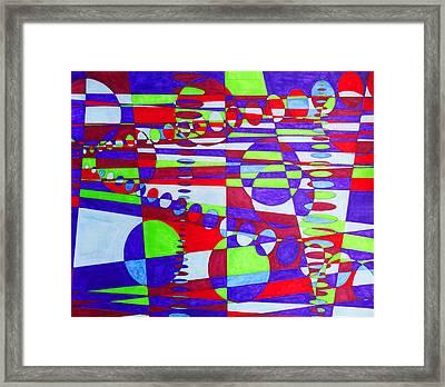 Traffic Framed Print by Megan Howard