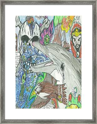 Tragedy In The Gulf Framed Print by Justin Chase