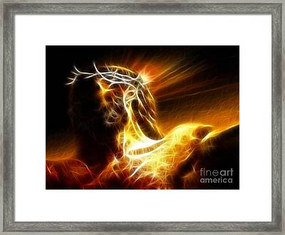 Tragic Jesus Crucifixion Framed Print by Pamela Johnson