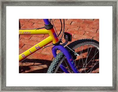 Trail Bike Framed Print by Paul Wear