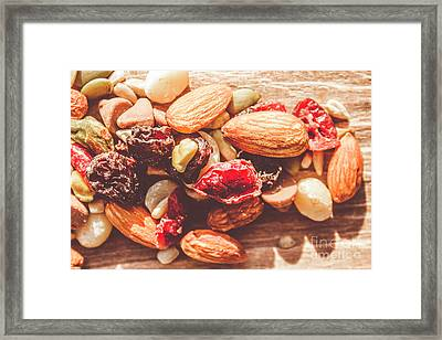 Trail Mix High-energy Snack Food Background Framed Print by Jorgo Photography - Wall Art Gallery