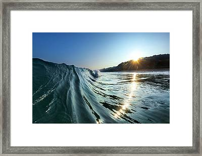 Trail Of Diamonds Framed Print by Sean Davey