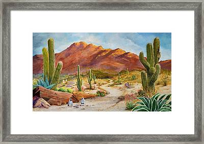 Trail To The San Tans Framed Print by Marilyn Smith