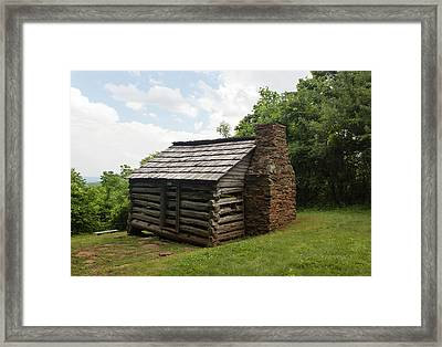 Trails Cabin At Smart View Loop On The Blue Ridge Parlway IIi Framed Print by Suzanne Gaff