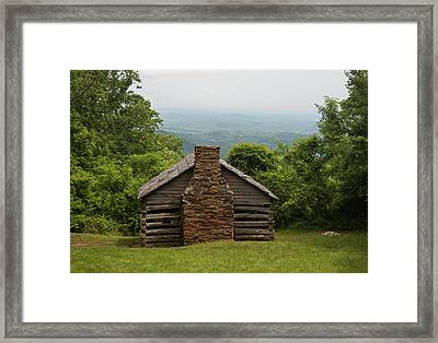 Trails Cabin At Smart View Loop On The Blue Ridge Parlway Framed Print by Suzanne Gaff