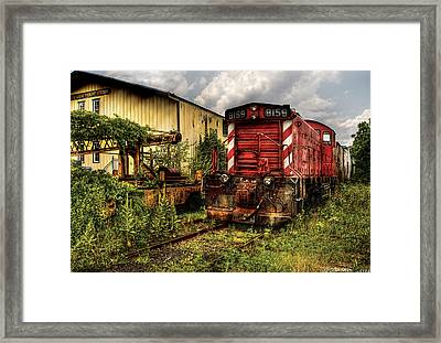 Train - Engine - 8159 Parked Framed Print by Mike Savad