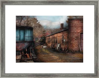 Train - Yard - The Train Yard Framed Print by Mike Savad