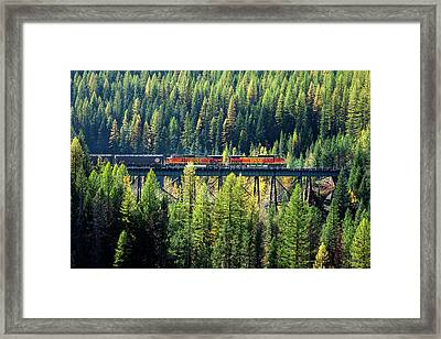 Train Coming Through Framed Print by Todd Klassy