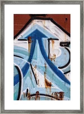 Train Graffiti Double Arrow Framed Print by Carol Leigh
