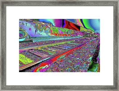 Train On The Color Plain Framed Print by Kenneth James