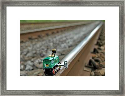 Train On Tracks Framed Print by Bill Kellett