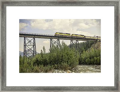 Train On Trestle Framed Print by Phyllis Taylor