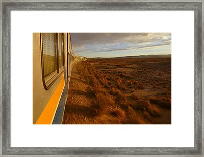 Train Ride Oruro To Tupiza 10 Framed Print by Skip Hunt