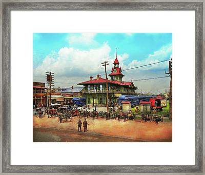 Train Station - Louisville And Nashville Railroad 1905 Framed Print by Mike Savad