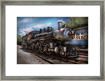 Train - Steam - 385 Fully Restored  Framed Print by Mike Savad