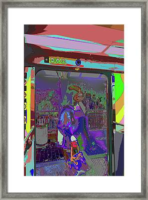 Train Stop Brain Flames Framed Print by Kenneth James