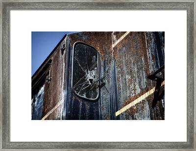 Train Vandalized Framed Print by Thomas Woolworth