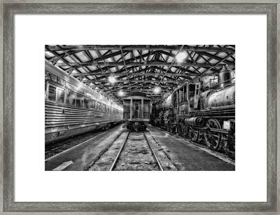 Trains 3 Foregone Work Horses Bw Framed Print by Thomas Woolworth