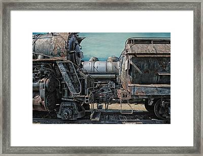 Trains Ancient Iron Framed Print by Thomas Woolworth