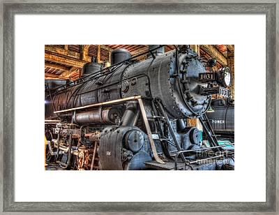 Trains - Steam Locomotive 1031 Side Framed Print by Dan Carmichael