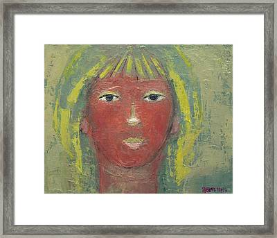 Tranquil Gaze Framed Print by Becky Kim