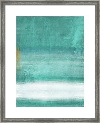 Tranquil Horizon- Art By Linda Woods Framed Print by Linda Woods