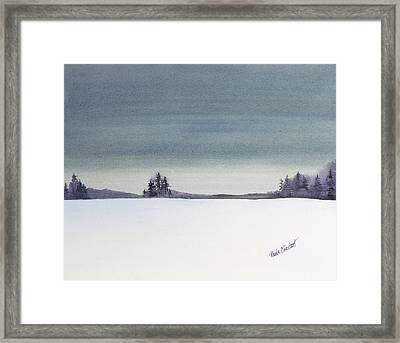 Tranquil Night Framed Print by Renee Chastant