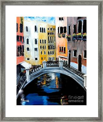 Tranquility In A Sea Of Tourists Framed Print by Tina Swindell