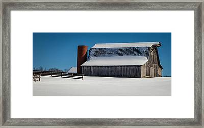 Tranquility Of Winter Framed Print by Karen Wiles
